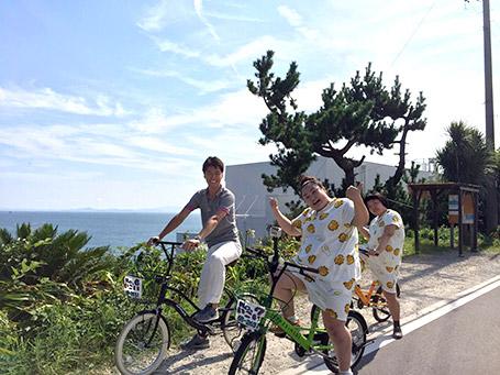 日間賀島でレンタサイクル