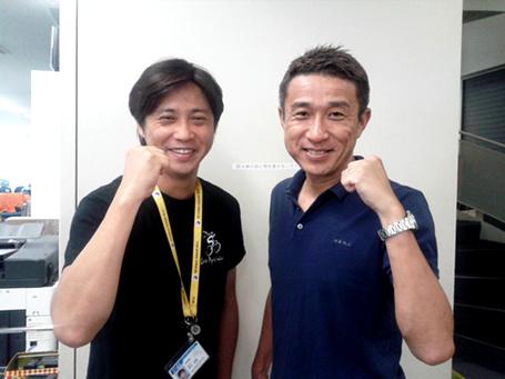 長くレスリング担当だった宮本ディレクターと私